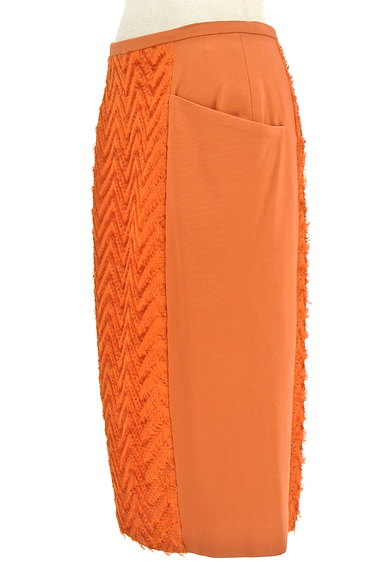 MICHEL KLEIN(ミッシェルクラン)の古着「サイドフリンジ刺繍切替ミディ丈スカート(スカート)」大画像3へ