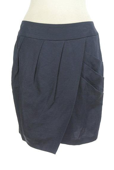 GALLARDAGALANTE(ガリャルダガランテ)の古着「ラップ風タックコクーンスカート(ミニスカート)」大画像1へ