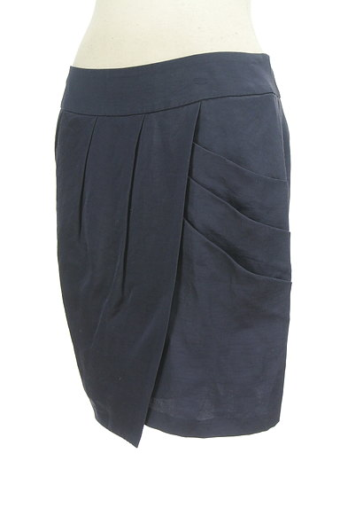 GALLARDAGALANTE(ガリャルダガランテ)の古着「ラップ風タックコクーンスカート(ミニスカート)」大画像3へ