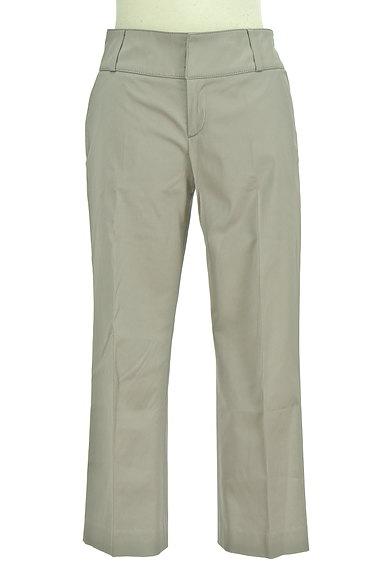 TOMORROWLAND(トゥモローランド)の古着「無地微光沢クロップドパンツ(パンツ)」大画像1へ