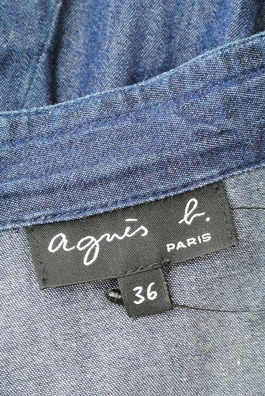 agnes b(アニエスベー)の古着「デニムライダースジャケット(ジャケット)」大画像6へ