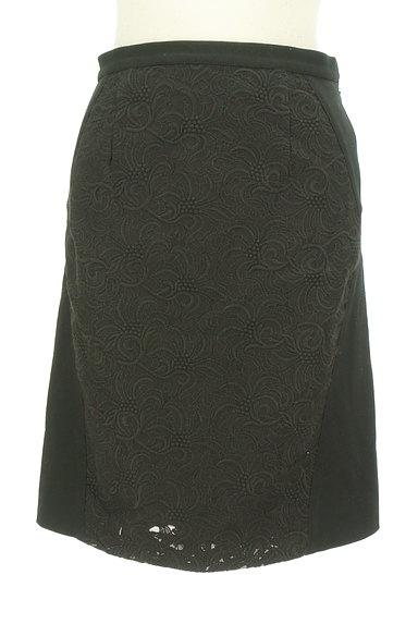 UNTITLED(アンタイトル)の古着「レース切替セミフレアスカート(スカート)」大画像1へ