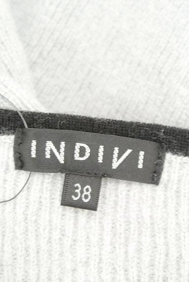INDIVI(インディヴィ)の古着「ロングテールドロップニット(ニット)」大画像6へ