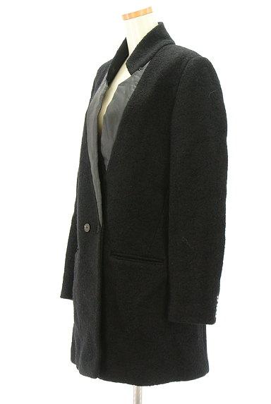 REPLAY(リプレイ)の古着「配色レザー襟切替ミドルコート(コート)」大画像3へ