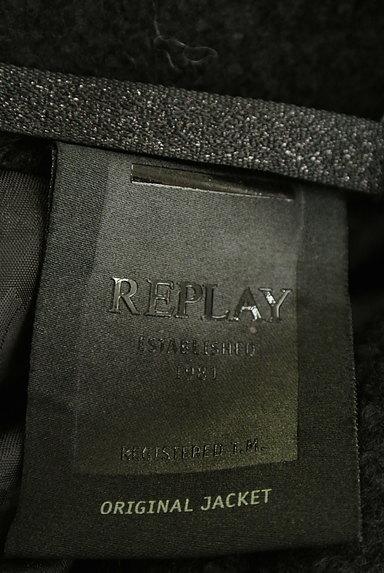 REPLAY(リプレイ)の古着「配色レザー襟切替ミドルコート(コート)」大画像6へ