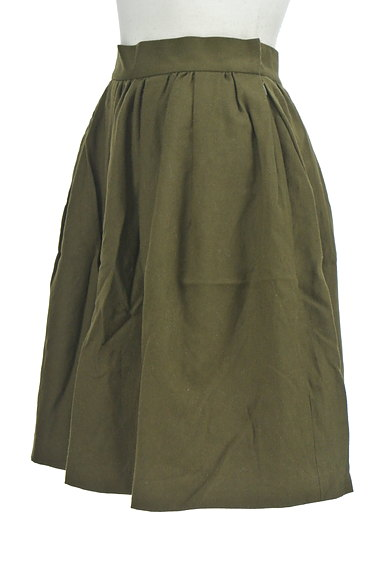 UNIVERVAL MUSE(ユニバーバルミューズ)の古着「ギャザーフレア膝上スカート(ミニスカート)」大画像3へ