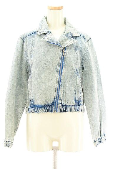 MURUA(ムルーア)の古着「ライダースデニムジャケット(ブルゾン・スタジャン)」大画像1へ
