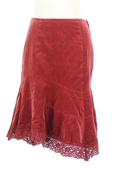 L'EST ROSE(レストローズ)の古着「切替アシンメトリーベロアスカート(スカート)」大画像1へ