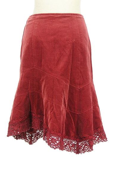 L'EST ROSE(レストローズ)の古着「切替アシンメトリーベロアスカート(スカート)」大画像2へ