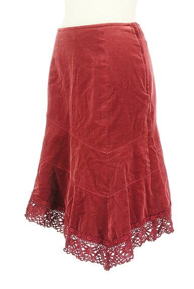 L'EST ROSE(レストローズ)の古着「切替アシンメトリーベロアスカート(スカート)」大画像3へ
