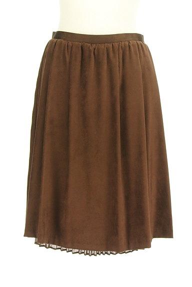 MK MICHEL KLEIN(エムケーミッシェルクラン)の古着「スエード×シフォンプリーツのリバーシブルスカート(スカート)」大画像1へ