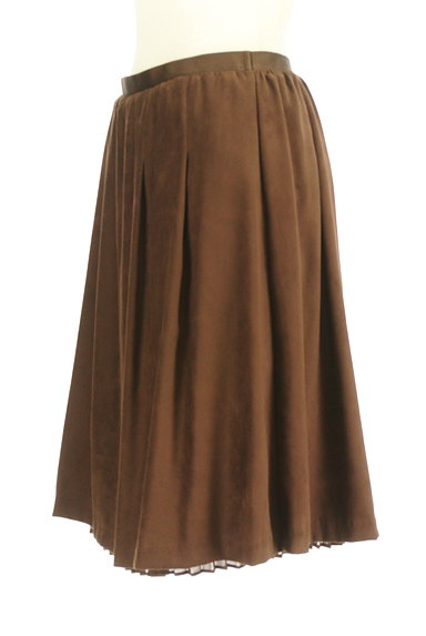 MK MICHEL KLEIN(エムケーミッシェルクラン)の古着「スエード×シフォンプリーツのリバーシブルスカート(スカート)」大画像3へ