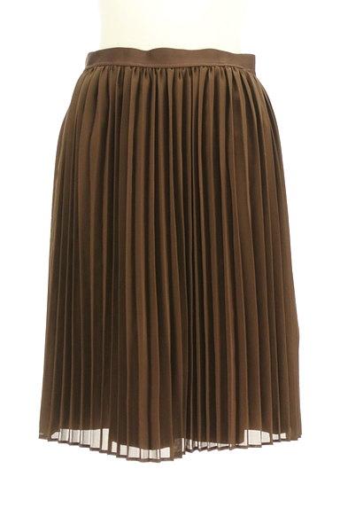 MK MICHEL KLEIN(エムケーミッシェルクラン)の古着「スエード×シフォンプリーツのリバーシブルスカート(スカート)」大画像4へ