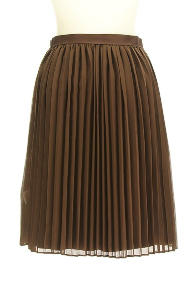 MK MICHEL KLEIN(エムケーミッシェルクラン)の古着「スエード×シフォンプリーツのリバーシブルスカート(スカート)」大画像5へ
