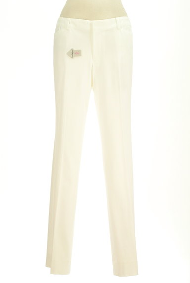 COUP DE CHANCE(クードシャンス)の古着「ホワイトカラーストレートパンツ(パンツ)」大画像4へ