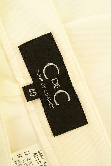 COUP DE CHANCE(クードシャンス)の古着「ホワイトカラーストレートパンツ(パンツ)」大画像6へ