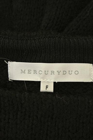 MERCURYDUO(マーキュリーデュオ)の古着「ウエストベルト付きクラシカルニット(ニット)」大画像6へ