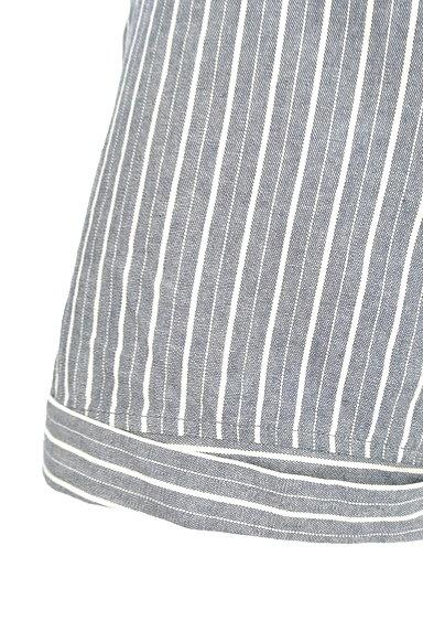 MERCURYDUO(マーキュリーデュオ)の古着「ストライプ柄ロールアップパンツ(ショートパンツ・ハーフパンツ)」大画像5へ