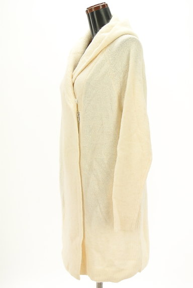 MERCURYDUO(マーキュリーデュオ)の古着「ロングニットパーカー(ブルゾン・スタジャン)」大画像3へ