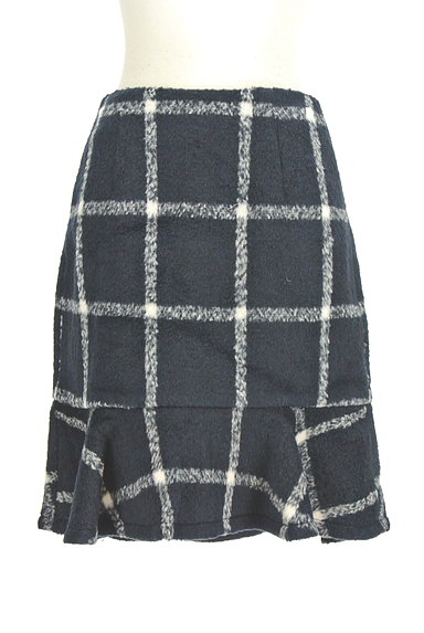 MERCURYDUO(マーキュリーデュオ)の古着「格子柄切替マーメイドスカート(スカート)」大画像1へ