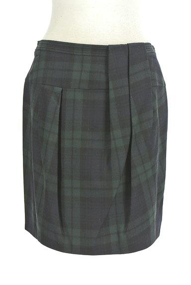 TOMORROWLAND(トゥモローランド)の古着「チェック柄膝上タイトスカート(ミニスカート)」大画像1へ