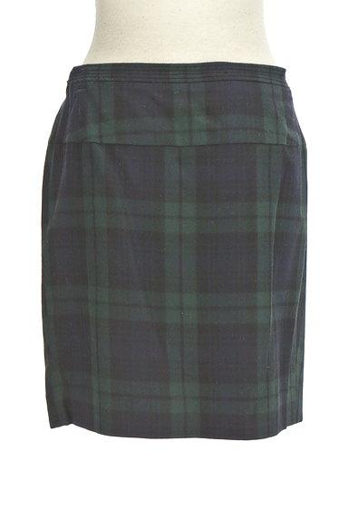 TOMORROWLAND(トゥモローランド)の古着「チェック柄膝上タイトスカート(ミニスカート)」大画像2へ