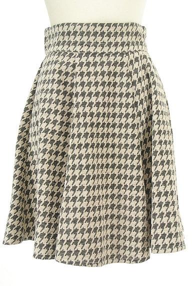 RD ROUGE DIAMANT(アールディー ルージュ ディアマン)の古着「千鳥格子タックフレアスカート(スカート)」大画像1へ