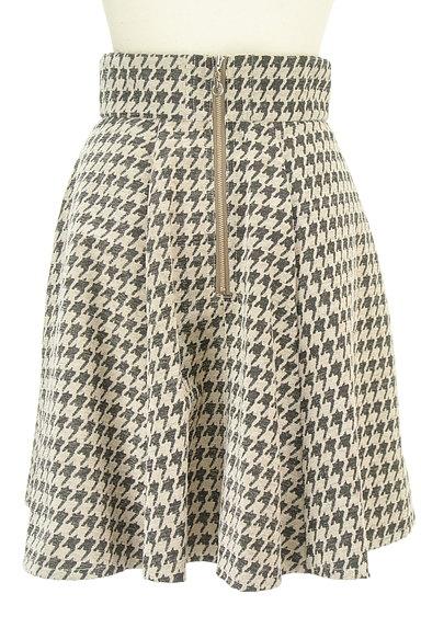 RD ROUGE DIAMANT(アールディー ルージュ ディアマン)の古着「千鳥格子タックフレアスカート(スカート)」大画像2へ