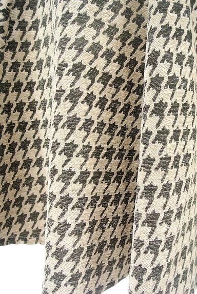 RD ROUGE DIAMANT(アールディー ルージュ ディアマン)の古着「千鳥格子タックフレアスカート(スカート)」大画像5へ