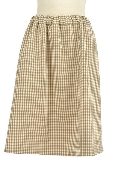 Te chichi(テチチ)の古着「無地×ギンガムチェックリバーシブルスカート(スカート)」大画像4へ