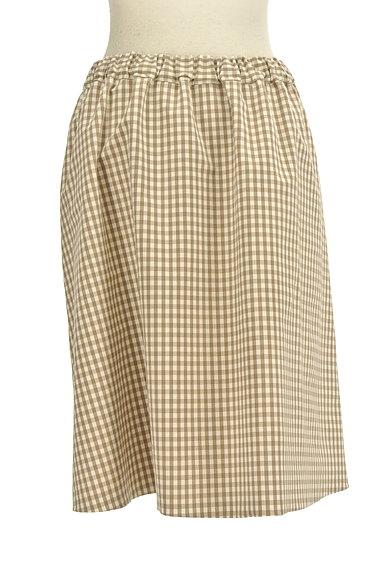 Te chichi(テチチ)の古着「無地×ギンガムチェックリバーシブルスカート(スカート)」大画像5へ