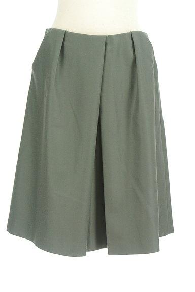 TOMORROWLAND(トゥモローランド)の古着「無地タックフレアスカート(スカート)」大画像1へ