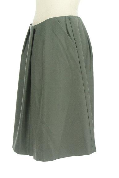 TOMORROWLAND(トゥモローランド)の古着「無地タックフレアスカート(スカート)」大画像3へ