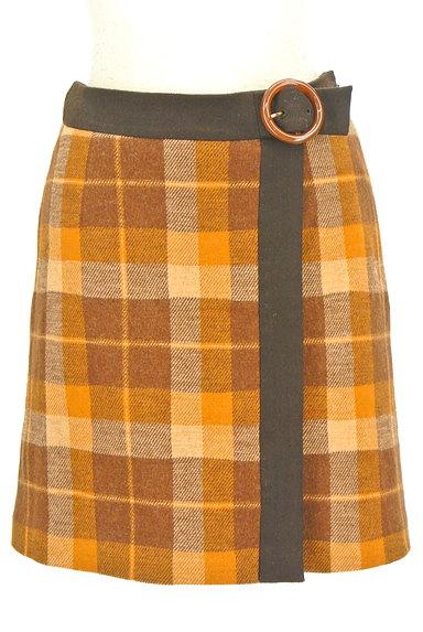 ef-de(エフデ)の古着「ラップ風チェック柄ミニスカート(ミニスカート)」大画像1へ
