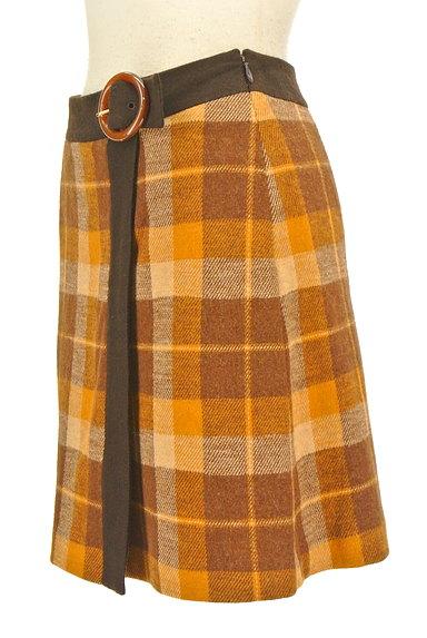 ef-de(エフデ)の古着「ラップ風チェック柄ミニスカート(ミニスカート)」大画像3へ