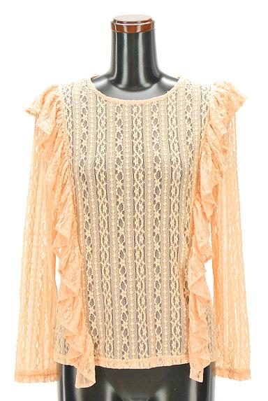 BEAMS Women's(ビームス ウーマン)の古着「フリルレーストップス(カットソー・プルオーバー)」大画像1へ