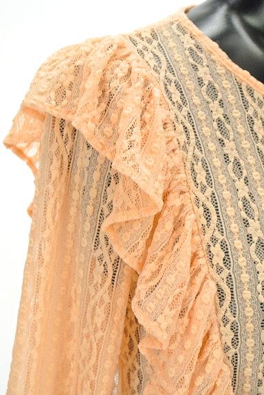 BEAMS Women's(ビームス ウーマン)の古着「フリルレーストップス(カットソー・プルオーバー)」大画像4へ
