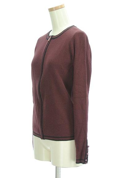 ANN TAYLOR(アンテイラー)の古着「パイピングジップアップカーディガン(カーディガン・ボレロ)」大画像3へ
