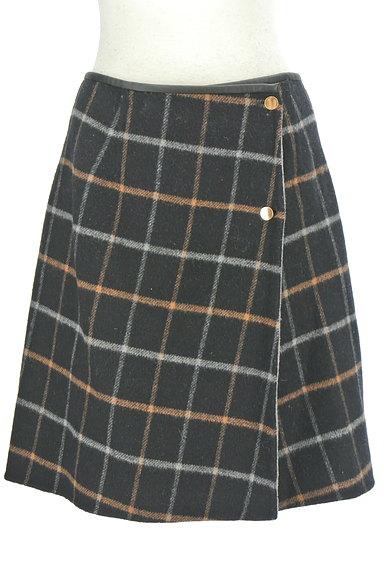 ROPE(ロペ)の古着「格子柄×無地リバーシブルスカート(ミニスカート)」大画像1へ