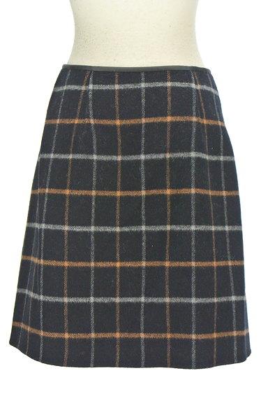 ROPE(ロペ)の古着「格子柄×無地リバーシブルスカート(ミニスカート)」大画像2へ