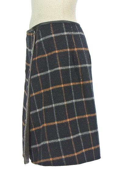 ROPE(ロペ)の古着「格子柄×無地リバーシブルスカート(ミニスカート)」大画像3へ