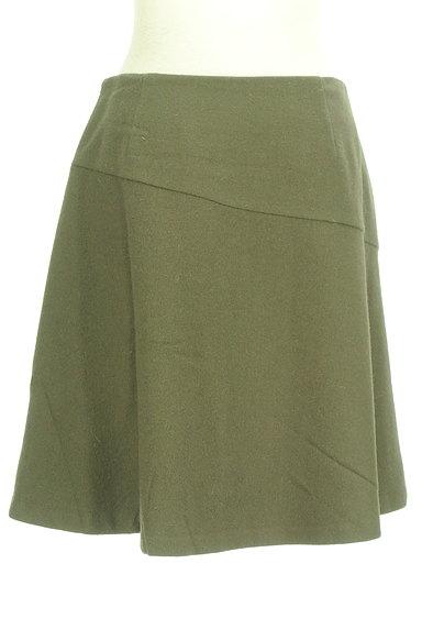 INDIVI(インディヴィ)の古着「アシンメトリー切替ミニスカート(ミニスカート)」大画像2へ