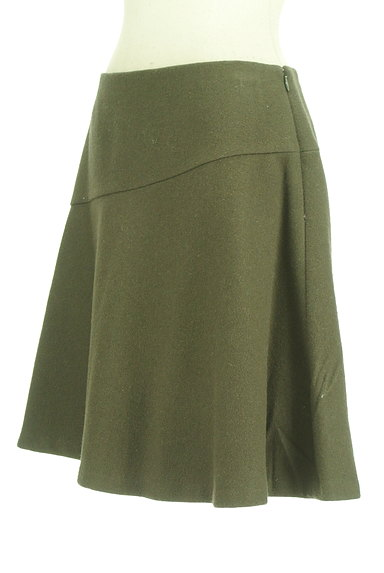 INDIVI(インディヴィ)の古着「アシンメトリー切替ミニスカート(ミニスカート)」大画像3へ