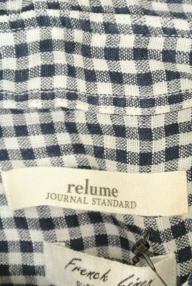 JOURNAL STANDARD relume(ジャーナルスタンダード レリューム)の古着「ギンガム柄リネンシャツ(カジュアルシャツ)」大画像6へ
