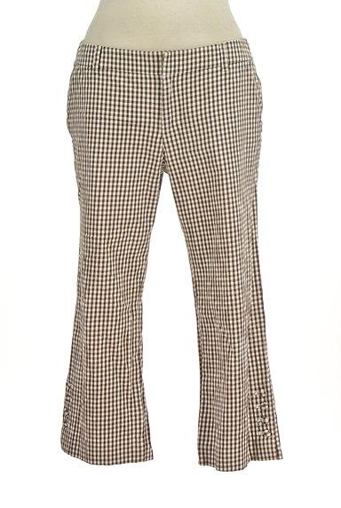 fredy(フレディ)の古着「チェック柄フレアクロップドパンツ(パンツ)」大画像1へ