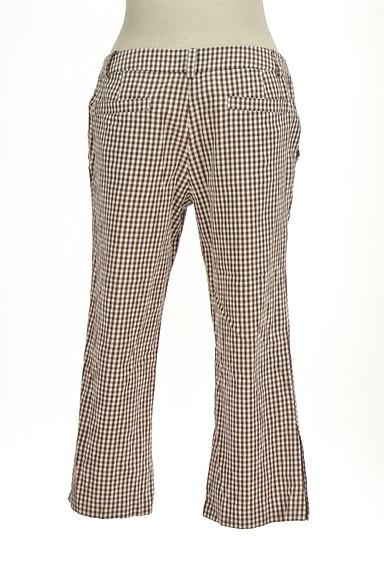 fredy(フレディ)の古着「チェック柄フレアクロップドパンツ(パンツ)」大画像2へ