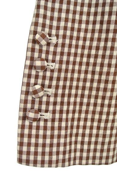 fredy(フレディ)の古着「チェック柄フレアクロップドパンツ(パンツ)」大画像4へ