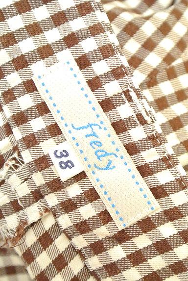 fredy(フレディ)の古着「チェック柄フレアクロップドパンツ(パンツ)」大画像6へ