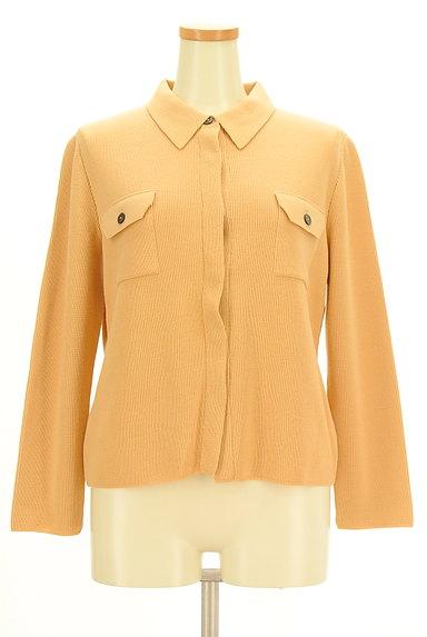 CORDIER(コルディア)の古着「襟付き比翼ニットカーディガン(カーディガン・ボレロ)」大画像1へ