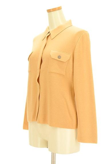 CORDIER(コルディア)の古着「襟付き比翼ニットカーディガン(カーディガン・ボレロ)」大画像3へ